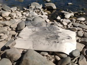 Improvisations on Paper:, Ettrick Water May 2014 Photo Claire Pencak